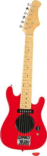 small foot 3302 E-Gitarre in schönem rot, Musikinstrument mit 10 verschiedenen Lautstärken und Buchse für Verstärker