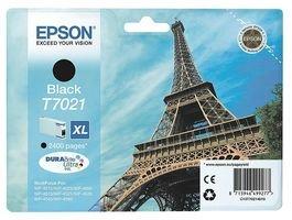 Epson Original T7021 Tintenpatrone Eiffelturm XL, Singlepack schwarz