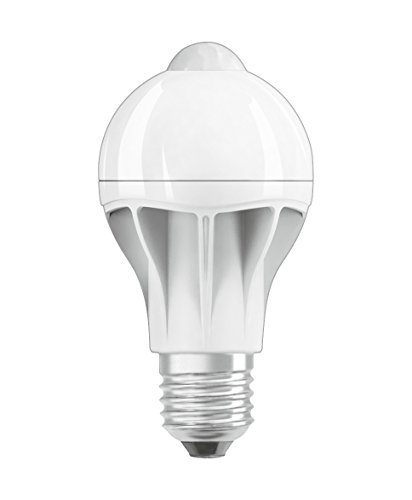Osram LED Star+ Motion Sensor Classic A Lampe, in Kolbenform mit E27-Sockel, integrierter Bewegungssensor, Ersetzt 60 Watt, Matt, Warmweiß - 2700 Kelvin, 1er-Pack