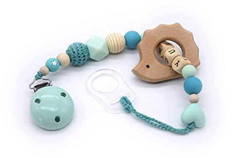 Catenella Portaciuccio - Compatibile con Ciucci MAM - Personalizzabile con Nome e Colori - Massaggia Gengive