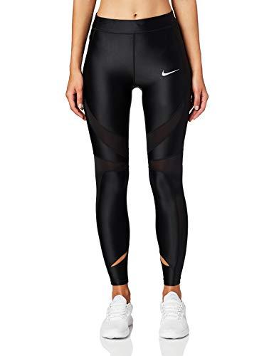 Nike Damen Power Speed Shorts, Black/Reflective Silver, L