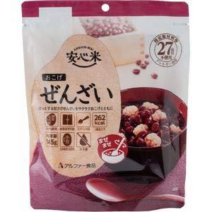 安心米/アルファ米 (おこげ ぜんざい味 30食セット) 保存食 日本災害食学会認証 日本製