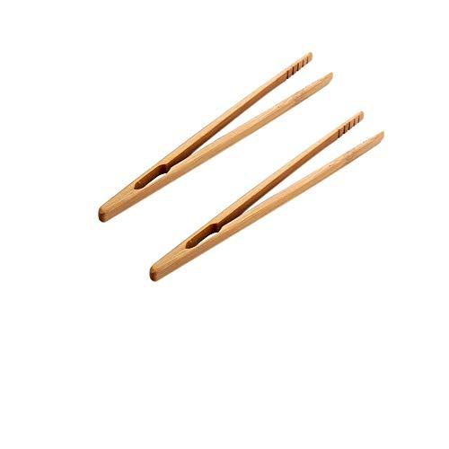 2 Pcs Pince à Pain Grillé Pince à Toast Ecologique en Bambou pour Cuisine Restaurant, Anti-statiquesen Bambou Outil Pince pour Micro Paysage Jardinage,Pour Tasses à Thé, Pain, Grillades, Cuisines