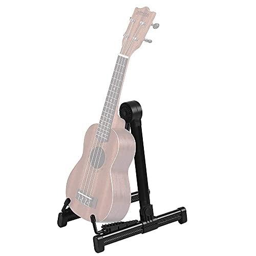 Ducomi Soporte para guitarra clásica, acústica, eléctrica y bajo – Trípode plegable...