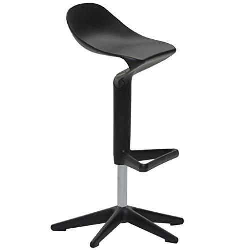 Chairs Dossier en Plastique PP Tabouret 360 degrés Libre Rotation Lift pour Chaise de Salon pivotant LI Jing Shop (Couleur : Noir)