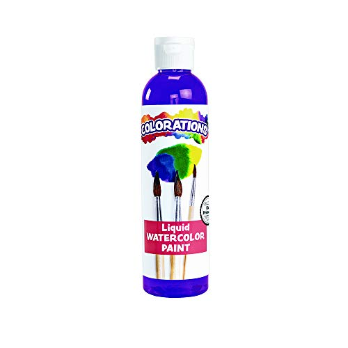 Colorations LWPR Liquid Watercolor Paint, 8 fl oz, Purple, Non-Toxic, Painting, Kids, Craft, Hobby, Fun, Water Color, Posters, Cool effects, Versatile, Gift