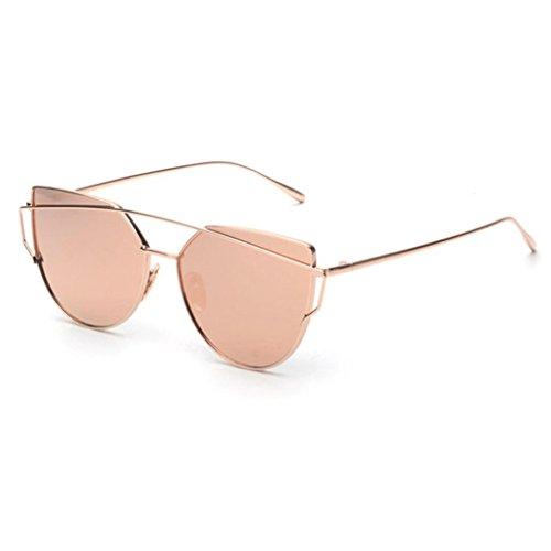 Xinantime Gafas de Sol Mujer, Mujeres Gafas Cuadradas 2017 Moda (Oro Rosa)