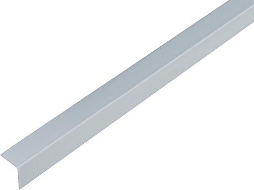 GAH-Alberts 485030 Winkelprofil-Kunststoff, aluminiumgrau, 1000 x 20 x 20 mm