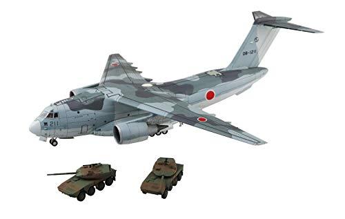 青島文化教材社 1/144 航空機シリーズ SP 航空自衛隊 C-2輸送機 SP 機動戦闘車付 プラモデル