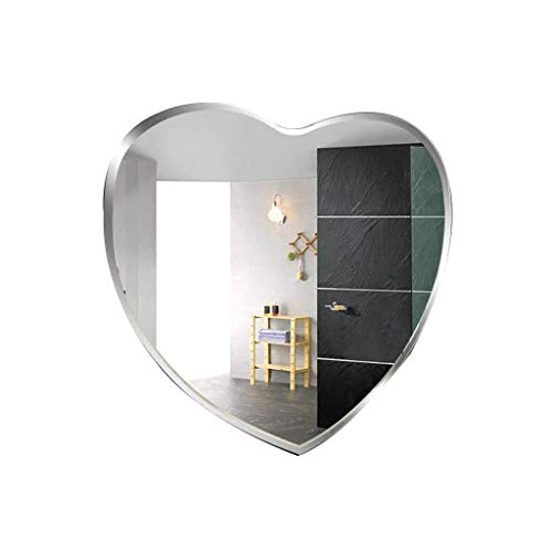 GRJ Household Items& Hanging Wall Mirror for Bedroom, Frameless Modern Wall Mounted -