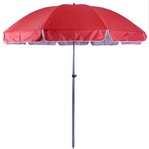 Parasol Parapluie de marché de de Patio de 8 Pieds / 2,4 m, de Table extérieure Ronde, auvent de étanche pour Piscine arrière-Cour de terrasse de Jardin (Rouge/Bleu)