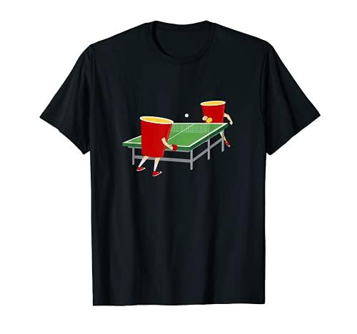Tennis de table Tasses amusantes Jouer au ping-pong T-Shirt