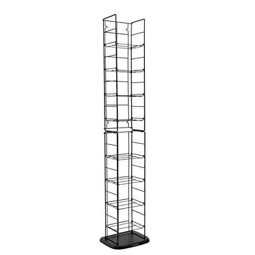 Atlantic Adjustable Wire Media Rack - Heavy Gauge Steel, Holds 153CDs, 72 DVDs, 8 Adjustable Shelves PN78205091