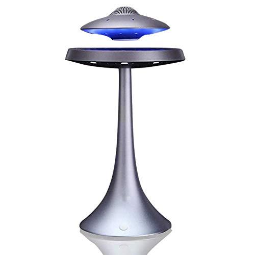 Altavoz Flotante levitante magnético inalámbrico, Altavoz UFO Altavoces Bluetooth levitantes con botón táctil Platillo Volante Creativo Luz Nocturna Escritorio de Oficina, Regalo