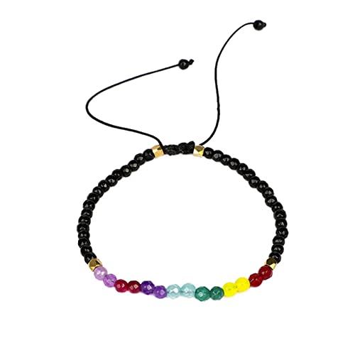 CXWK Pulseras de Piedra Natural Genenic Mujer para Mujer, Pulsera de Cadena de Cuerda, joyería de Cuarzo Hecha a Mano para Mujer