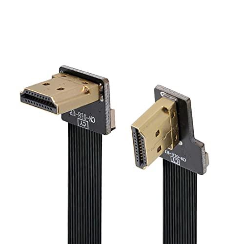 ChenYang CY tipo A HDMI maschio ad angolo verso l'alto 90 gradi a HDMI maschio ad angolo retto 90 gradi HDTV FPC cavo piatto 80 cm per FPV HDTV Multicopter fotografia aerea