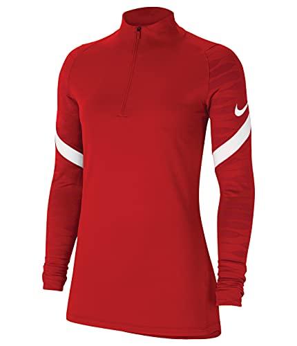 NIKE Strike 21 Drill Top - Sudadera de Entrenamiento para Mujer, Mujer, CW6875-657, University Red/Gym Red/White/White, Small