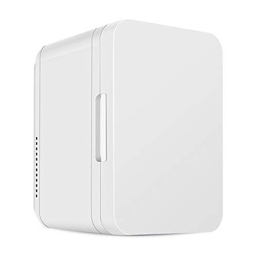 MNCYGJ Mini Refrigerador Silencioso Refrigerador para Automóvil De 8L con Puerta De Vidrio Refrigerador para Bebidas Pequeño Minibar para Acampar 12V / 220V,Blanco