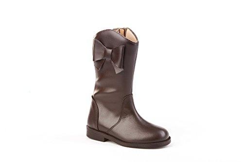 Botas de Piel para Niñas Mod.150. Calzado Infantil Made in Spain, Garantia de Calidad. (32, Chocolate)