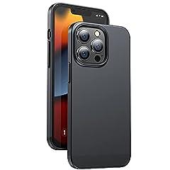 【極薄・軽量】Humixx For iPhone13Pro ケース 薄型 持ちやすい 下縁柔軟ドイツ製TPU素材 マット質感 指紋防止 Qiワイヤレス充電対応 擦り傷防止 全面保護 アイフォン13Pro 用カバー 6.1インチ [ブラック]