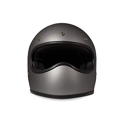 Casco Integral DMD Racer Gris Mate Estilo Caferacer Modelo Matt Grey XL Matt Grey