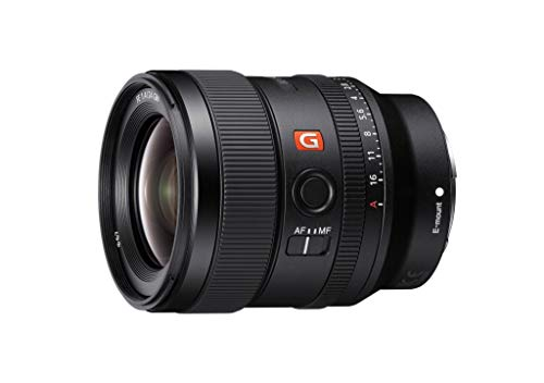 Sony E-mount FE 24mm F1.4 GM Full Frame Wide-angle Prime Lens (SEL24F14GM), Black