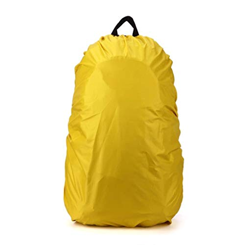 rongweiwang Waterproof Backpack Dust Rain Cover Portable Travel proof bag cover Camping Rucksack Bag Rainproof Cover, Yellow, 35-40 Liter