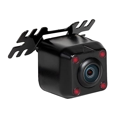 RYDEEN cm-LED4 Backup/Front Wide View CMOS Camera with Invisible IR NightVision, Waterproof, OEM Style ABS Housing, Wing Mount, Reverse Trigger, for Cars Pickup Trucks, SUVs, RVs, Vans (Black)