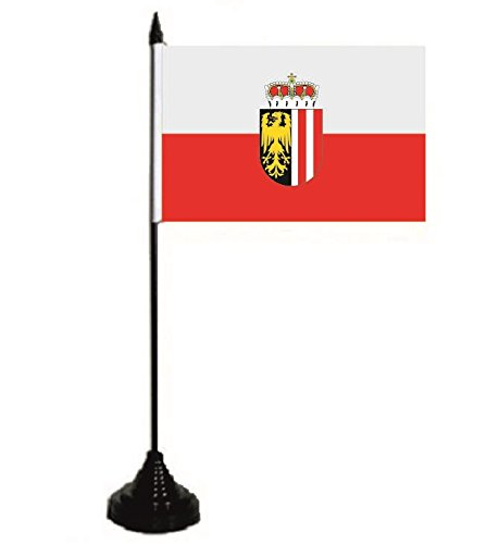 U24 Tischflagge Oberösterreich Fahne Flagge Tischfahne 10 x 15 cm