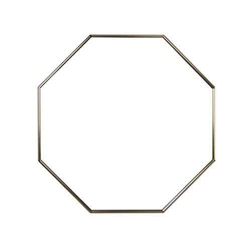 Espejo Colgante con Marco de Metal, Formas Irregulares HD Moderno Espejos de Baño Montados En La Pared Decorativo Niñas Espejo de Maquillaje (Color : Gold)