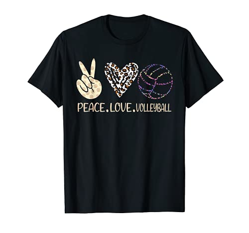 Peace Love Voleibol lindo para mujeres adolescentes niñas jugador Camiseta