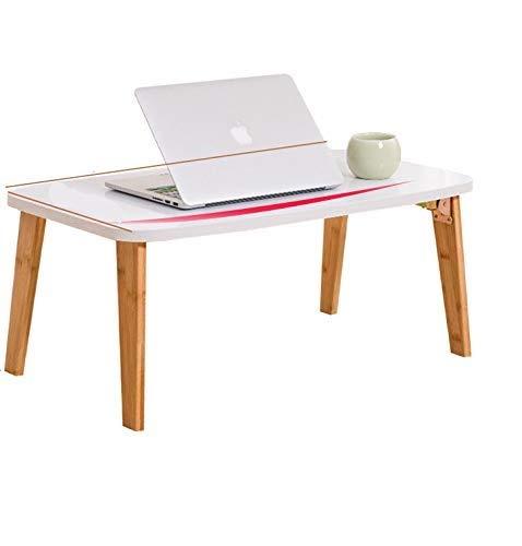 WHLMDZI Compacte klaptafel - opvouwbaar draagbaar multifunctioneel bed laptop tafel luie tafel met radiator plat beugel opvouwbare houten computer bureau