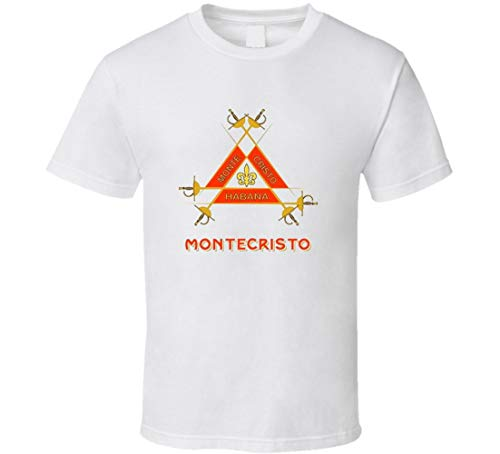 Hzjun Montecristo Cuban Cigar Logo t-Shirt Stogie Cigar Smoking tee Shirts White