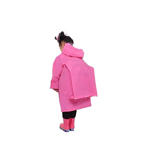 AiYoYo 3-in-1 Multifunktionales Wiederverwendbar Regenponcho Eva Wasserdicht Atmungsaktiv Regenkleidung Kinder für Wandern, Motorad,Fahrrad,Decke,Picknicks (Rot, M)