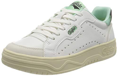 Buffalo Match, Zapatillas Mujer, Color Blanco Menta, 38 EU