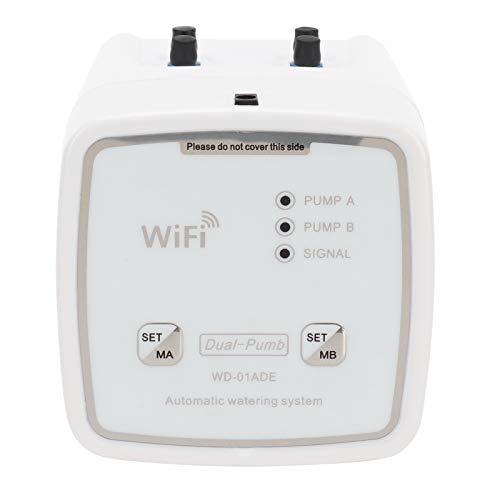 Temporizador de riego WiFi, Temporizador de riego inteligente de 2.4GHz Temporizador de agua programable Temporizador de grifo de manguera, Kit de sistema de riego por goteo con control remoto(YO)