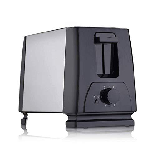 Mnjin Multifunktionaler Brotbackautomat 2-Scheiben-Toaster, Toaster mit extra breitem Schlitz, 2-Scheiben-Einstellungen und herausnehmbarer Krümelschublade, Toaster aus Edelstahl