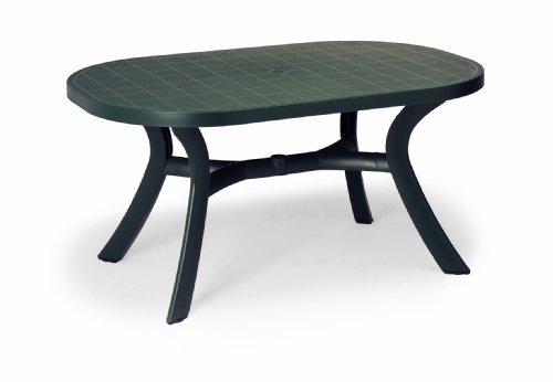 Beauty.Scouts Gartentisch Tisch Esstisch Veilchen mit abdeckbaren Schirmloch - Anthrazit