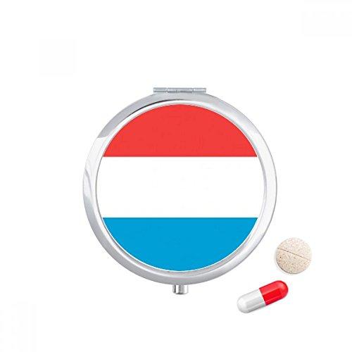 DIYthinker Luxembourg Nationale Vlag Europa Land Reizen Pocket Pill case Medicine Drug Opbergdoos Dispenser Spiegel Gift