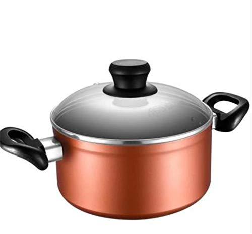 Pot Inductie Pot Niet Stick Saucepan Soep Pot Inductie Frying Pans Kookplaat Deksel Pots Saucepan Melk Pot Niet-Tek Dikke Soep Pot Huishoudelijke Algemene Aanvullende Voedsel Cooker 20 cm