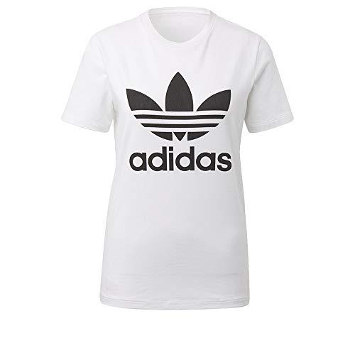 adidas Originals Damen Trefoil Tee T-Shirt, weiß/schwarz, Klein