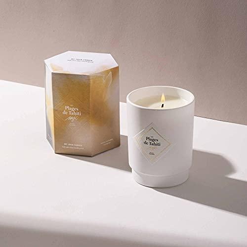 My Jolie Candle, candela profumata monoï con gioiello all'interno (le spiagge di Tahiti) | Collana in argento | 50h Combustion | Cera 100% naturale vegetale | 250 g