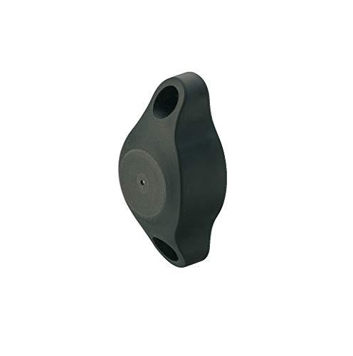 JUVA Wand-Türpuffer magnetisch Türstopper Gummi-Puffer - extra stark - Modell H2468 | Haltekraft: 6 kg | Kunststoff schwarz | MADE IN GERMANY | 1 Stück - Design Wand-Türstopper zum Schrauben
