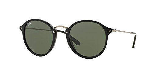 Ray Ban RB2447 ROUND/CLASSIC 901 49M Black/Green Sunglasses For Men For Women
