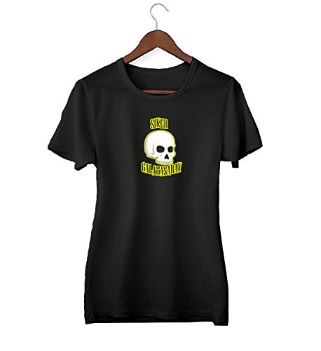 KLIMASALES Siker Skull Galatasaray Quote_KK020679 Shirt T-shirt voor Vrouwen - Zwart