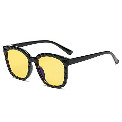 FENGHUAN Gafas de Sol cuadradas de Cristal con múltiples Cortes Vintage para...