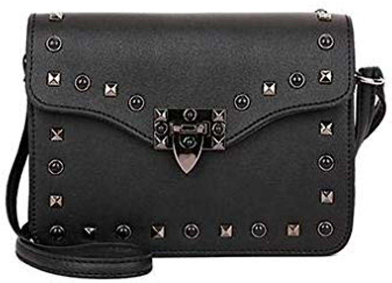 Luxury Handbag Women Bag Designer Famous Brand Mini Crossbody Bag 2018 sac a Main Ladies Hand Bags for Women Rivet Bags color Black
