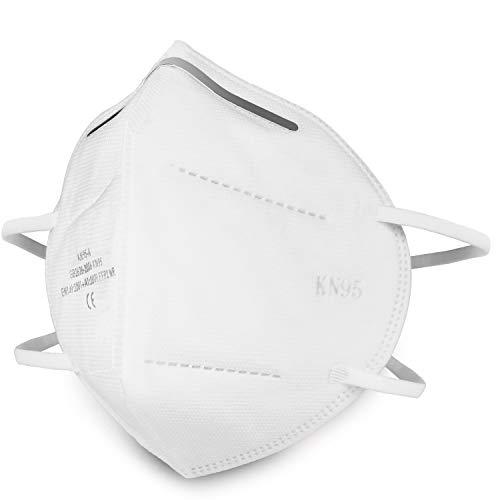 WilBee KN95/FFP2 Maske (10 Stücke), Filtrationseffizienz über 95%, Atmungsaktiv