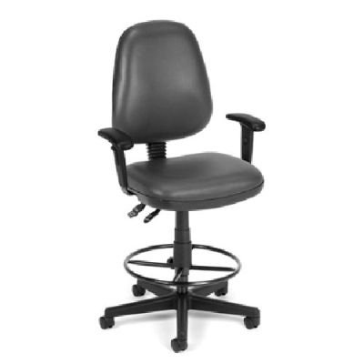 BEF7408760 - Best Charcoal Posture Drafting Chair with adjustable arms