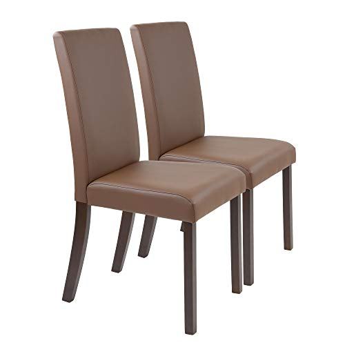 Albatros Gastronomie Stühle Acrobat 2-er Set, braun, Robust und extrem belastbar bis 200 kg, Massivholz mit patentierter Ausgleichs-Konstruktion